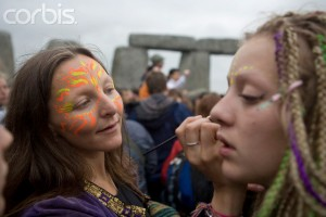 UK - Stonehenge Summer Solstice - Face-painting